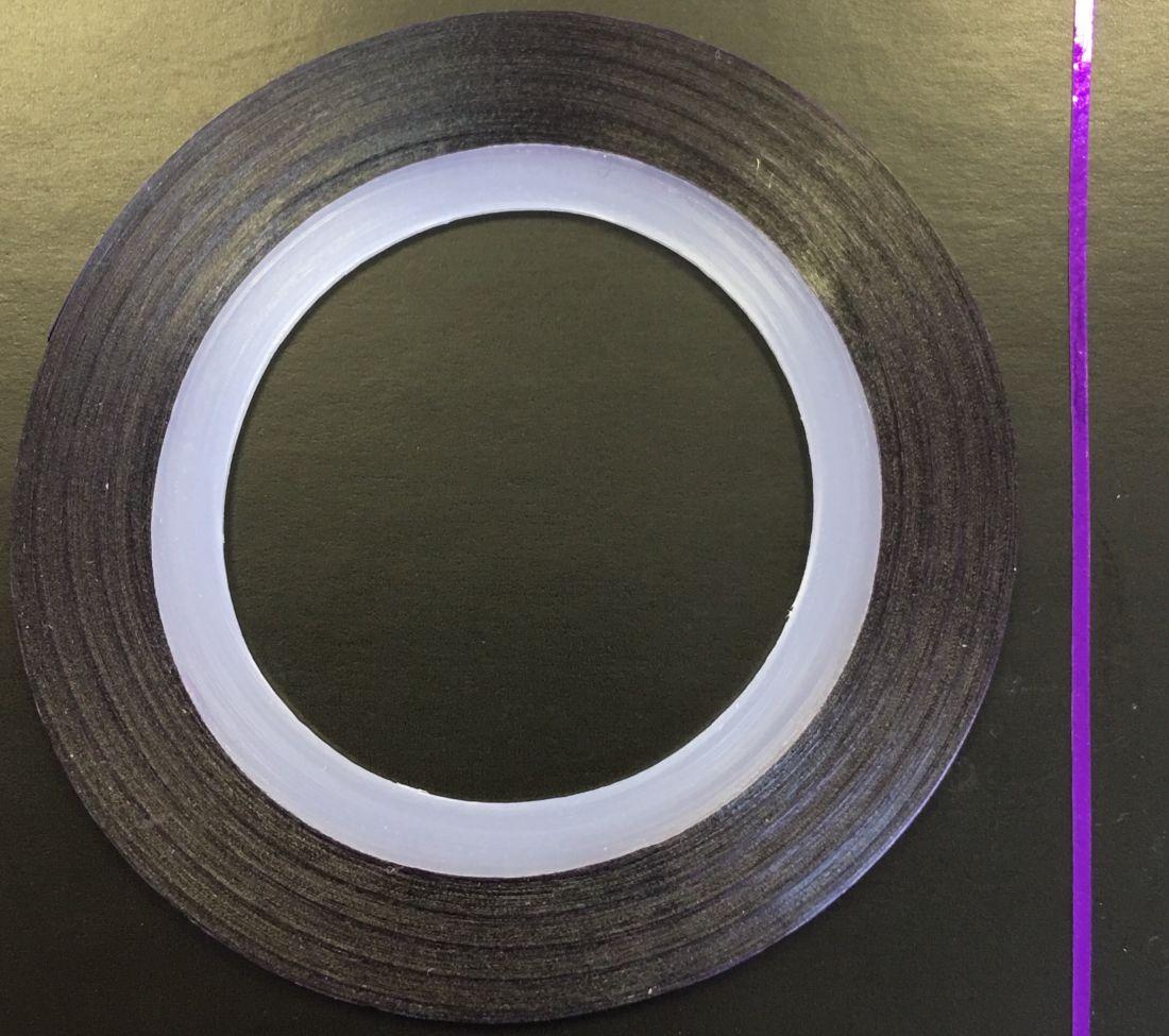Наклейка-лента для дизайна ногтей в рулоне (0.8мм) глянцевая (фиолетовый)