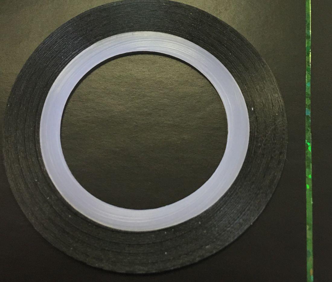 Наклейка-лента для дизайна ногтей в рулоне (0.8мм) голограмма (зеленый)
