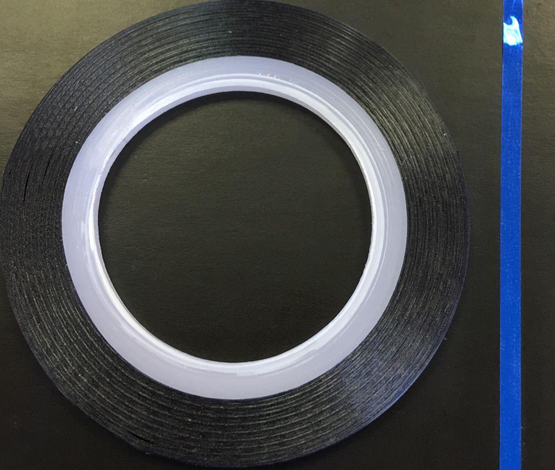 Наклейка-лента для дизайна ногтей в рулоне (2мм) глянец (синий)