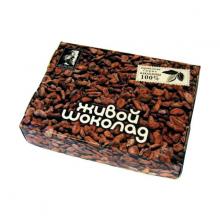 """Плитка перемолотых какао бобов """"Живой шоколад"""", 180 г"""
