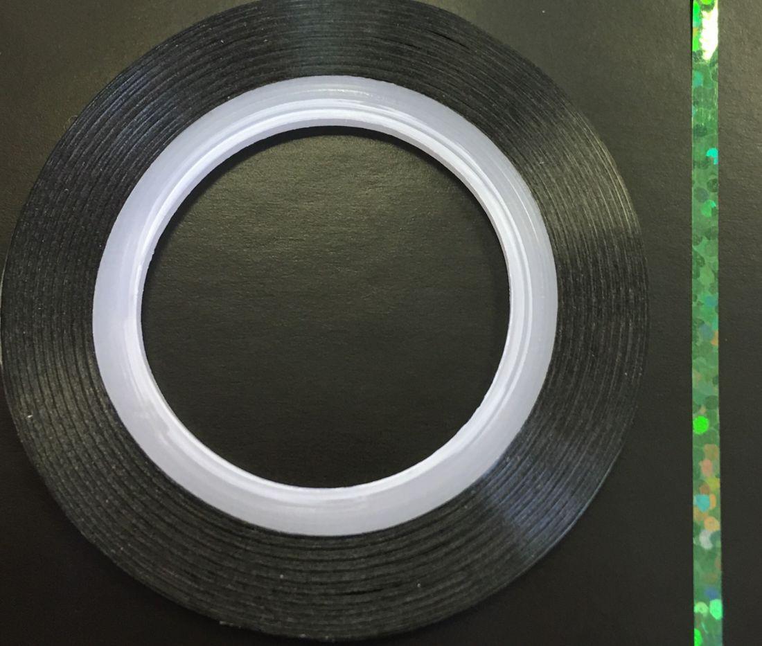 Наклейка-лента для дизайна ногтей в рулоне (2мм) голограмма (зеленый)