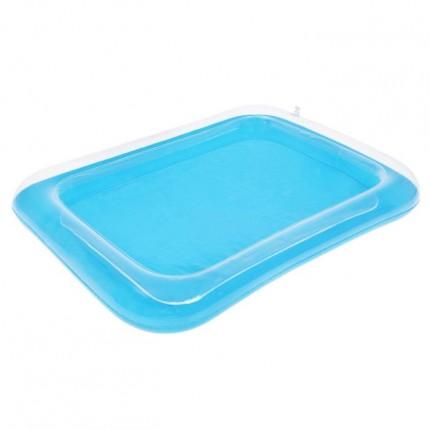 Надувная песочница для кинетического песка цвет голубой