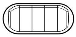 Клавиша  5-клав выкл.  Белая с подсв. (арт.68020)