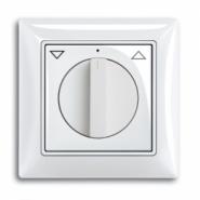 Выключатель для жалюзи поворотный ABB Basic 55 альпийский белый