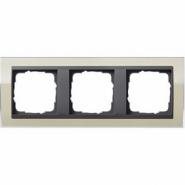 Рамка Gira Event Clear Песочный 3 поста цвет вставки Антрацит