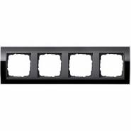 Рамка Gira Event Clear Черный 4 поста цвет вставки Антрацит