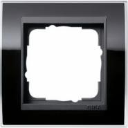 Рамка Gira Event Clear Черный 1 пост цвет вставки Антрацит