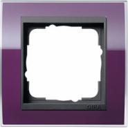 Рамка Gira Event Clear Фиолетовый 1 пост цвет вставки Антрацит