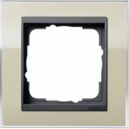 Рамка Gira Event Clear Песочный 1 пост цвет вставки Антрацит