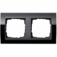 Рамка Gira Event Clear Черный 2 поста цвет вставки Антрацит