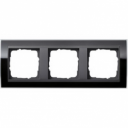 Рамка Gira Event Clear Черный 3 поста цвет вставки Антрацит