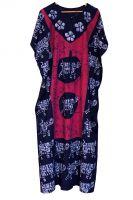 Длинное индийское платье на кулиске. Свободный размер. Купить в Москве (интернет магазин)
