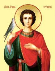 Трифон Апамейский (рукописная икона)