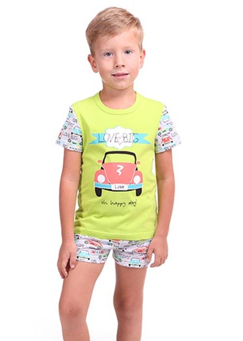 Пижама для мальчика Машинка жёлтая