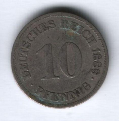 10 пфеннигов 1889 г. E Германия