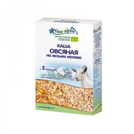 Флёр Альпин - каша на козьем молоке Органик овсяная, 5 мес., 200 гр.