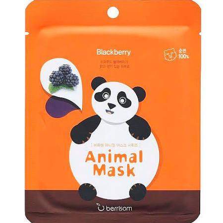 Маска тканевая BERRISOM Animal mask series в ассортименте