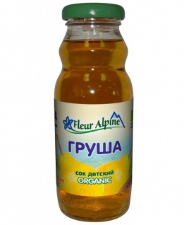 Флёр Альпин - сок Органик груша освет., 4 мес., 200 мл.