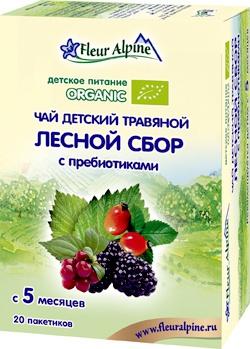 """Флёр Альпин - чай травяной Органик """"Лесной сбор с пребиотиками"""", 5 мес., 30 гр."""