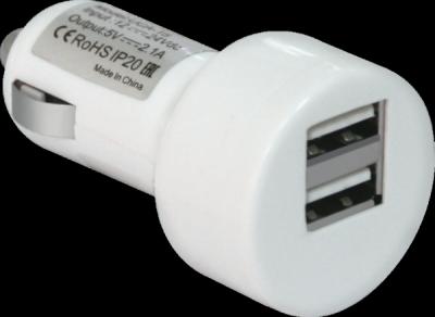 Автомобильный адаптер UCA-15 2 порта USB, 5V/2А, блистер