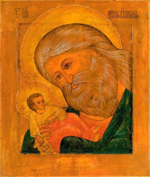 Икона Симеон Богоприимец (копия 19 века)
