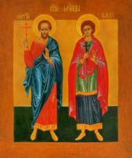 Сергий и Вакх (рукописная икона)
