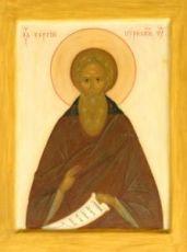 Сергий Нуромский (рукописная икона)