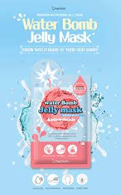 Корейская маска для лица с желе BERRISOM water Bomb Jelly mask в ассортименте