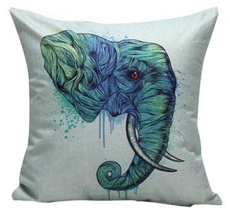 """Дизайнерская подушка """"Дикий Слон"""""""