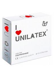 Презервативы Unilatex Ultra Thin ультратонкие, 3 шт.