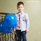 детский костюм для мальчика с подтяжками