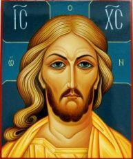 Спас Златые Власы (рукописная икона)