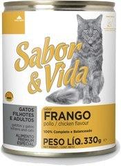 Sabor & Vida консервированный корм для кошек Цыпленок 290Г
