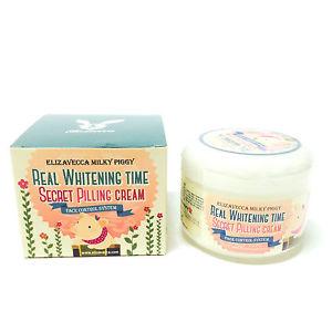 Корейский пилинг-крем для лица осветляющий ELIZAVECCA Milky Piggy Real Whitening Time Secret Pilling Cream