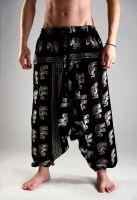 Купить мужские хлопковые штаны афгани с индийскими слонами