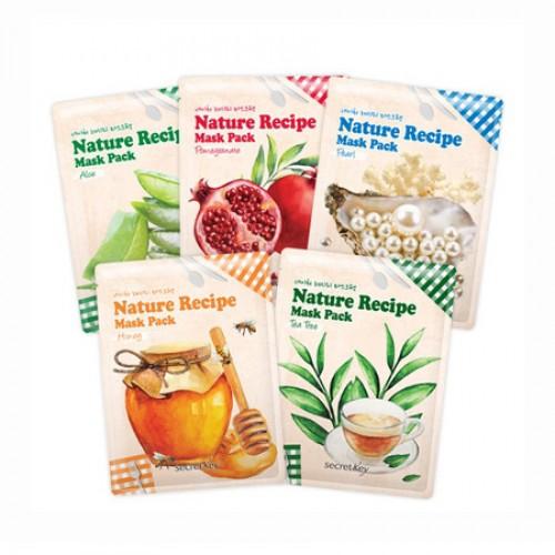Корейская тканевая маска для лица Secret Key Nature Recipe Mask Pack