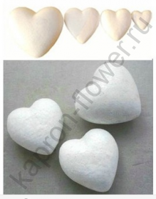 Сердце из пенопласта (большое)