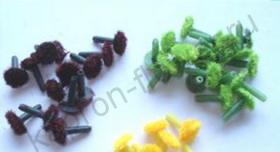 Серединки герберы - зелёные