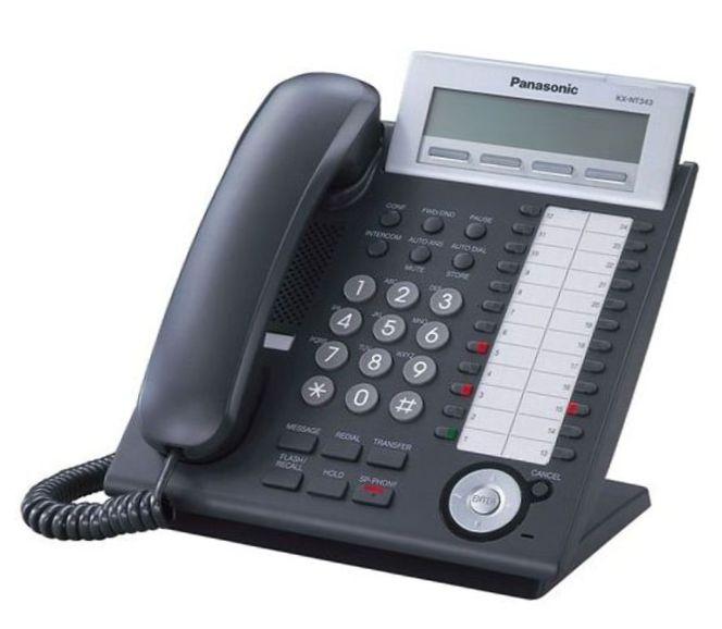 Системный цифровой IP-телефон Panasonic KX-NT343RU