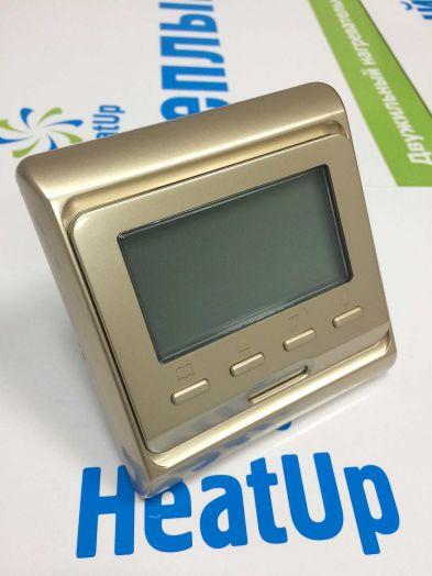 Терморегулятор RTC-51.716 для теплых полов (золотой)
