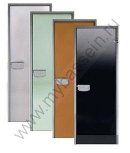 Дверь ALU 7×19 (Harvia) алюминий, стекло «сатин»