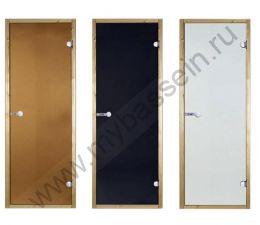 Дверь осина STG 7×19 (Harvia), стекло сатин