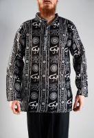 Мужская черная индийская рубашка с символом ОМ, интернет магазин