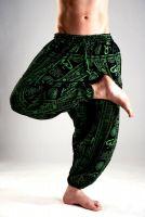 Мужские индийские штаны афгани с символами ОМ, купить с бесплатной доставкой из Индии
