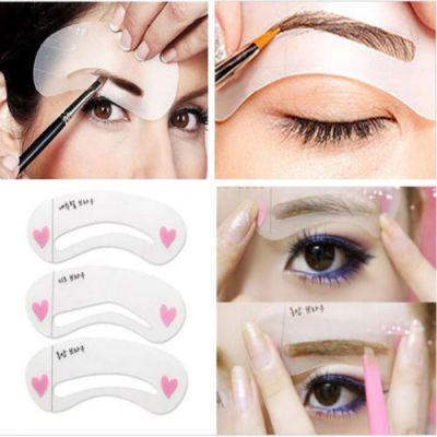 Трафареты для макияжа бровей Self Drawing Brow Guide Secret Key Eye
