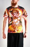 Мужская индийская футболка Ганеш, интернет магазин, Индия