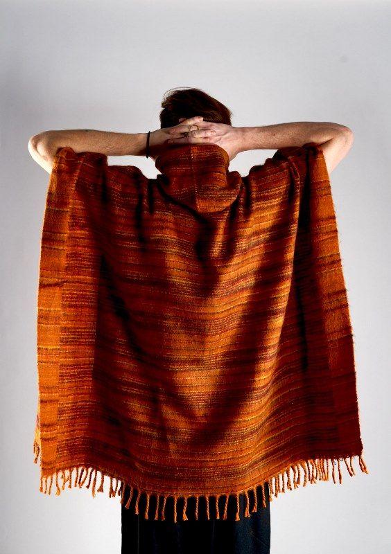Теплое пончо из акриловой шерсти (отправка из Индии)