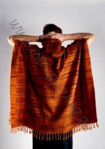 Теплое пончо из акриловой шерсти, разные цвета