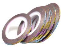 Декоративная самоклеющаяся лента (2 мм) Цвет: радуга