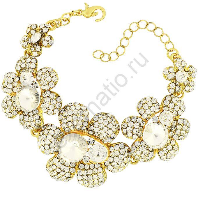 Браслет Crystal Shik 43630-1745.Браслет под золото